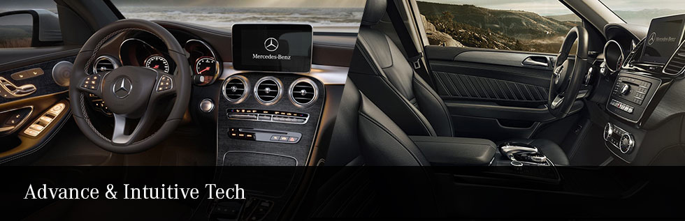 Safety features and interior of the 2018 Mercedes-Benz GLC vs the 2018 Mercedes- Benz GLE - available at Mercedes-Benz of Augusta near Evans and Augusta, GA