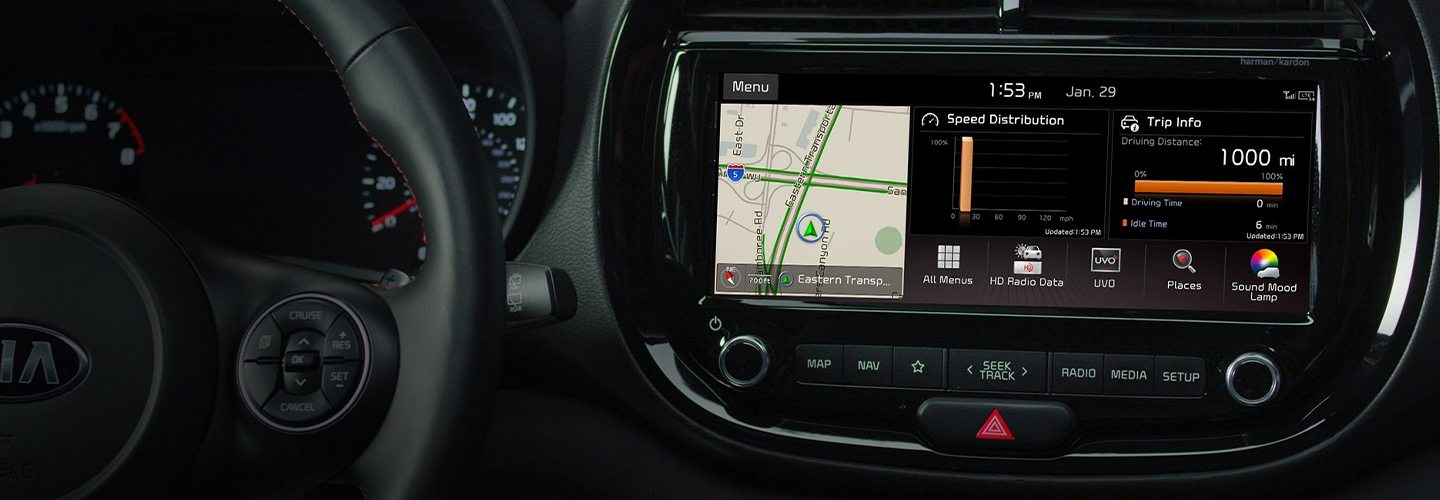 Safety features and interior of the 2020 Kia Soul - available at our KIA dealership in Mansfield, Ohio