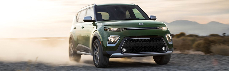 2020 Kia Soul driving on dirt road