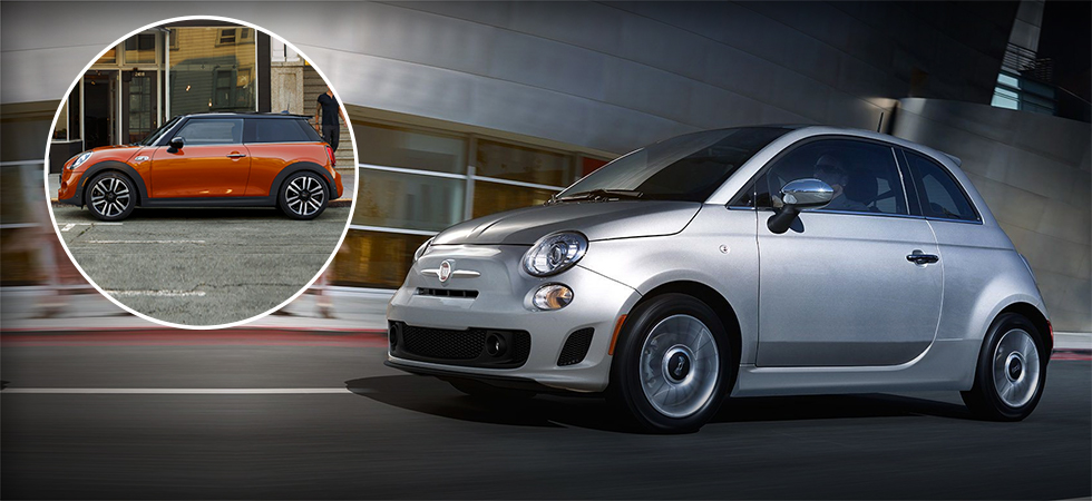 compare the 2018 fiat 500 & the 2018 mini cooper in dublin, oh