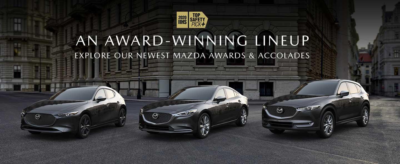 Award Winning Lineup 3 Mazda Models parked