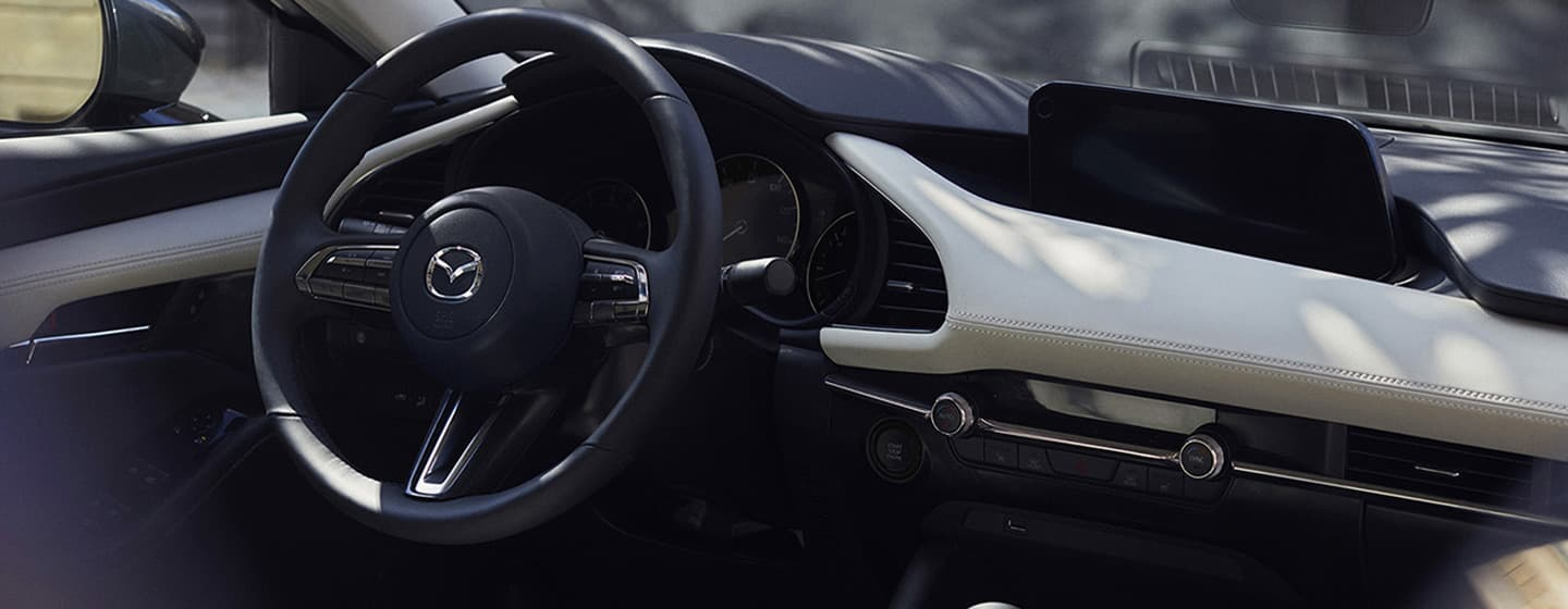 Safety features and interior of the 2019 Mazda3 - available at our Mazda dealership near Naples, FL.