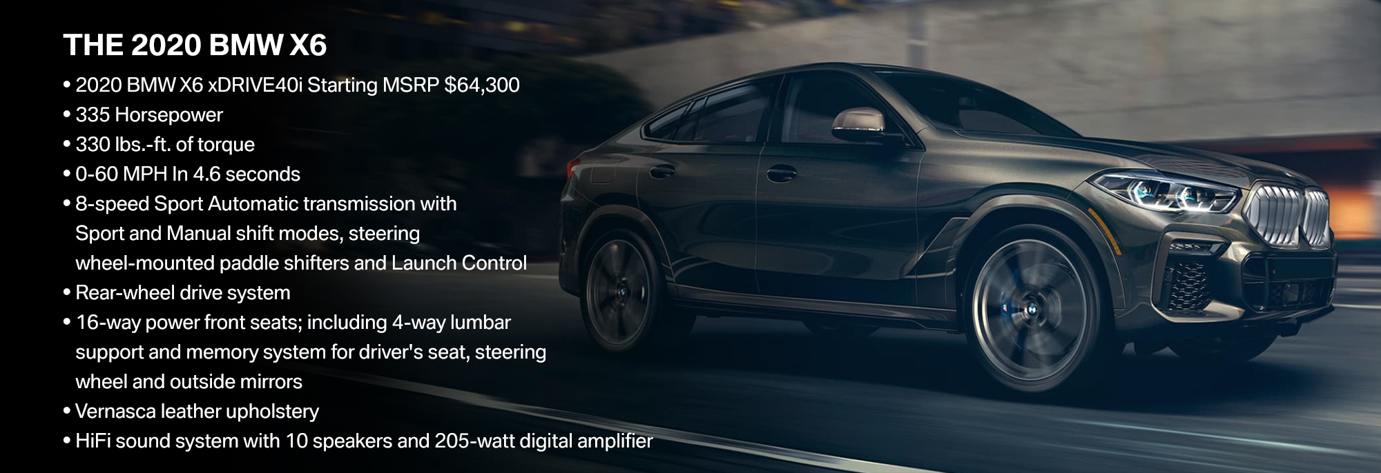 New 2020 BMW X6 Offer