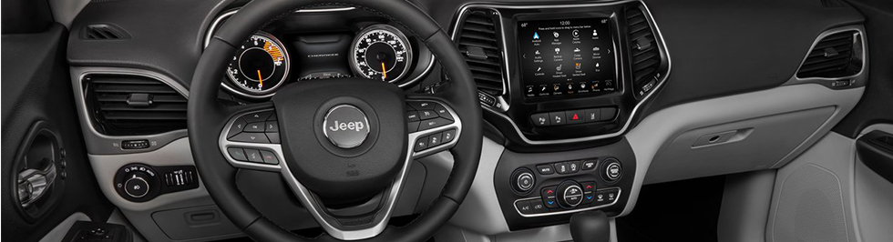 Safety features and interior of the 2019 Jeep Cherokee in Oklahoma City – available at Bob Moore Chrysler Dodge Jeep RAM of OKC
