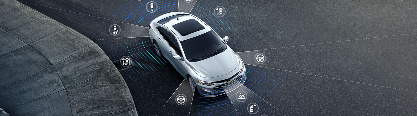 2020 Chevy Malibu parked Safety Features at Spitzer Chevy in North Jackson Ohio