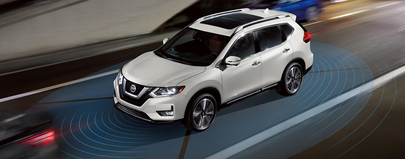 Explore advanced safety features in the 2019 Nissan Rogue available at our dealership in Flagstaff, AZ.