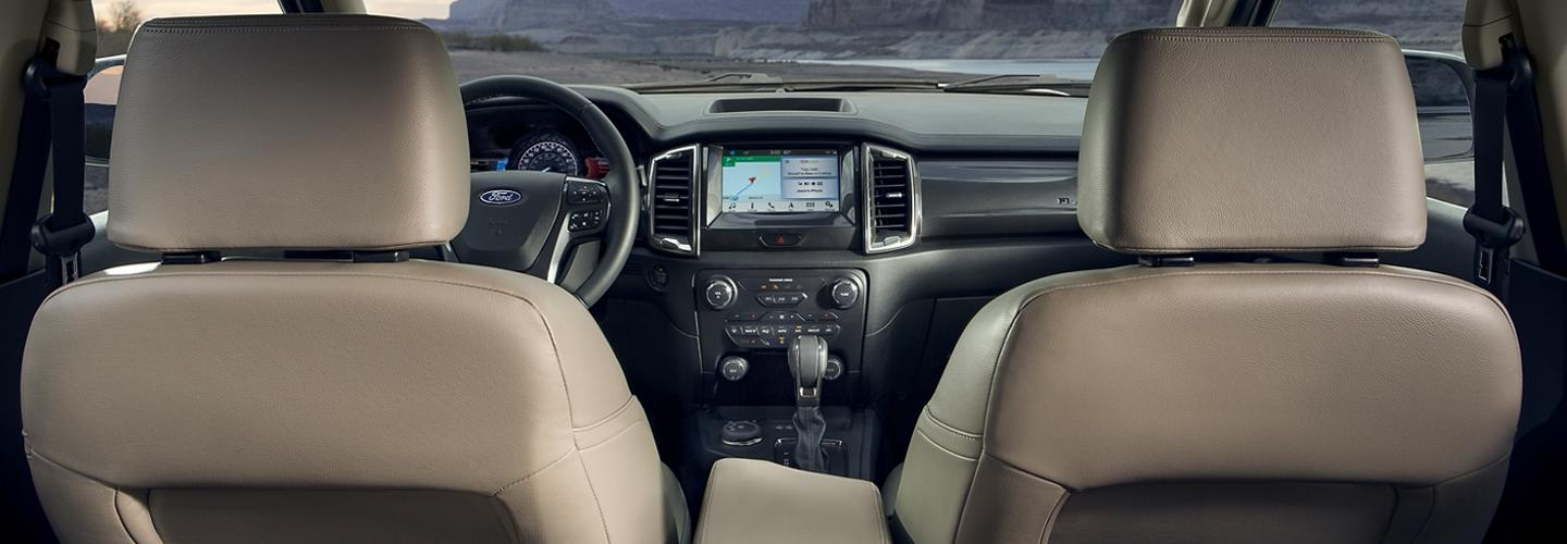 2020 Ford Ranger interior view from rear