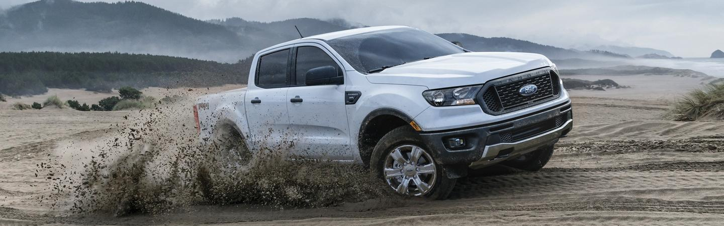 Beach offroad dune drive with a 2020 Ford Ranger in motion