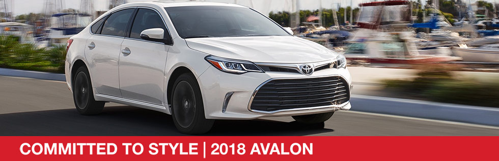 Exterior of the 2018 Toyota Avalon at Rivertown Toyota near LaGrange, GA