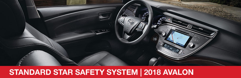 Safety features and interior of the 2018 Toyota Avalon - available at Rivertown Toyota near Auburn-Opelika, AL and Columbus, GA