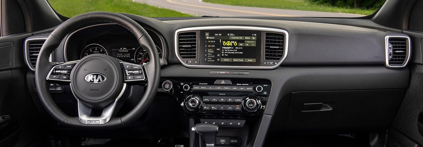2020 Kia Sportage interior at Spitzer Kia Cleveland Ohio