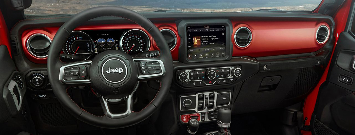 Safety features and interior of the 2020 Jeep Gladiator - available at our Jeep dealership near Naples, FL.