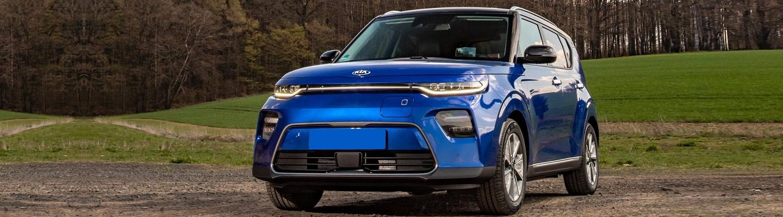 2020 Kia Soul EV electric vehicle for sale at Spitzer Kia Mansfield Ohio