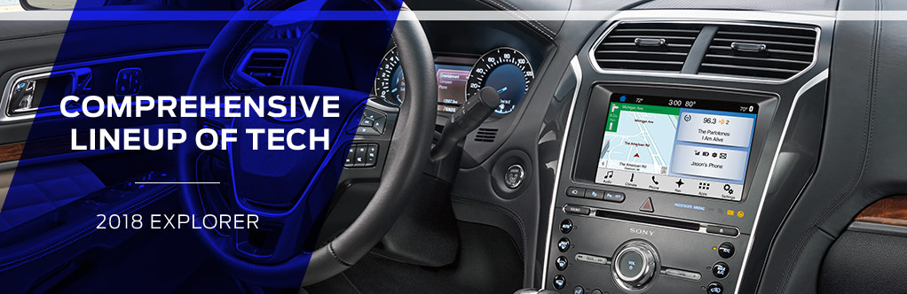 Safety features and interior of the 2018 Ford Explorer - available at Ford of Port Richey near Lutz and Land O' Lakes, FL