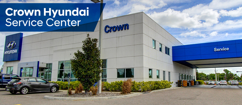 Hyundai Service Center is available at Crown Hyundai St. Petersburg near Clearwater, Palm Harbor and Tampa.