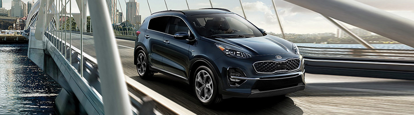 New 2020 Kia Sportage for lease or purchase at Spitzer Kia Cleveland.