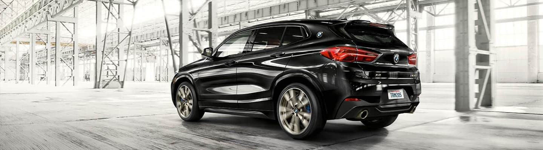 Black 2019 BMW X2 SAV - Exterior - Back End and Side