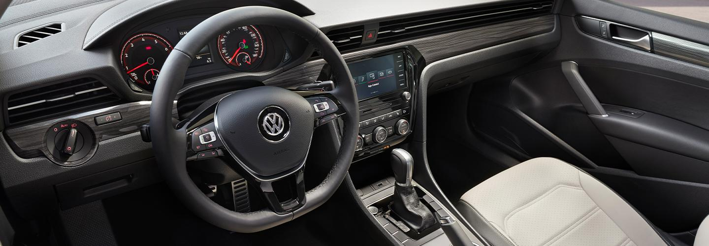 Interior view of the 2021 VW Passat in motion