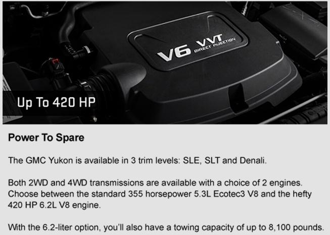 2017 GMC Yukon Powerful Engine Performance, Horsepower, Capability Southern GMC Greenbrier