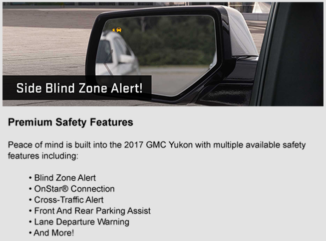 2017 GMC Yukon safety features, Southern GMC Greenbrier, Chesapeake, Portsmouth, Newport News, Elizabeth City