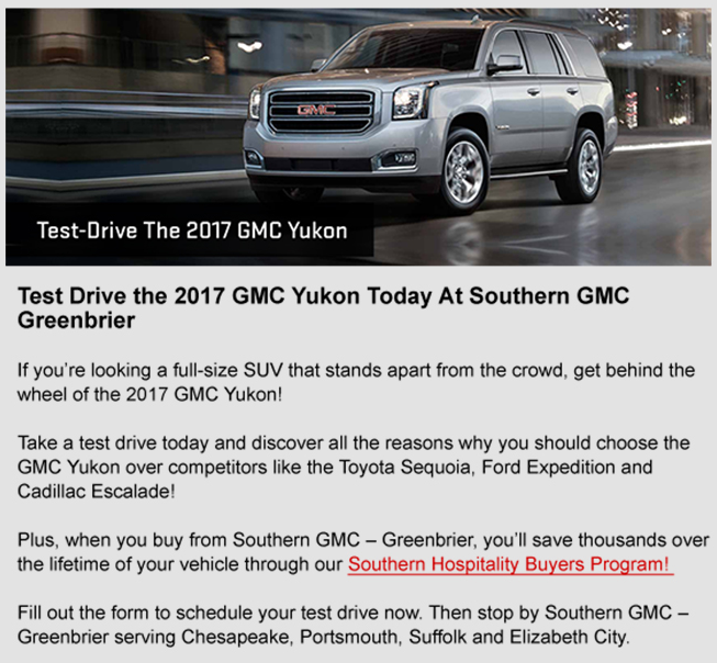 Compare the 2017 GMC Yukon to the Toyota Sequoia, Cadillac Escalade, and Ford Expedition, Southern GMC Greenbrier, Chesapeake, Portsmouth, Newport News Suffolk, Elizabeth City
