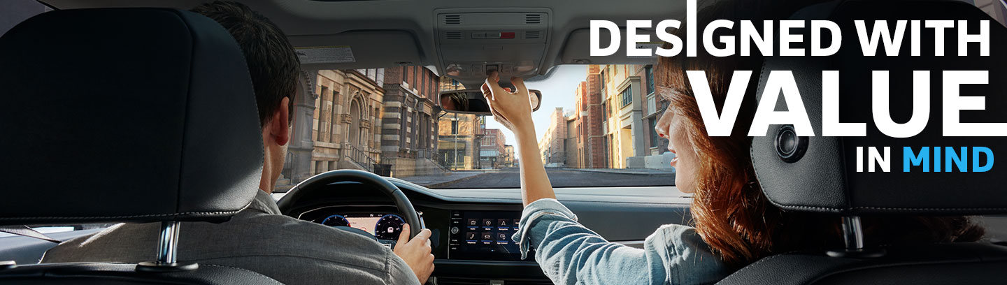 Safety features and interior of the 2019 Volkswagen Jetta - available at Vista VW in Pompano Beach near Fort Lauderdale and Coconut Creek, FL