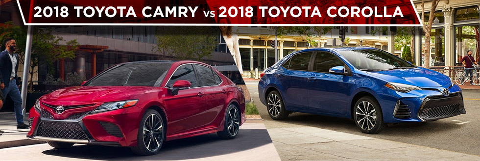The 2018 Toyota Camry and the 2018 Toyota Corolla are available at Toyota of Rock Hill near Fort Mill, SC