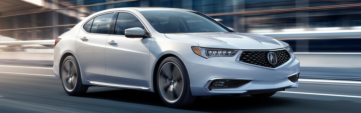 Exterior of the 2020 Acura TLX at Spitzer Acura.
