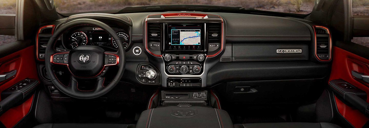 Interior of the new Ram 1500 available at Spitzer Ram dealer in Homestead Florida