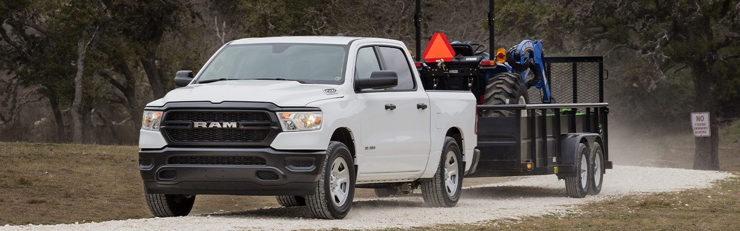 New Ram 1500 pickup truck for sale at Spitzer Ram Dealership in Homestead Florida.