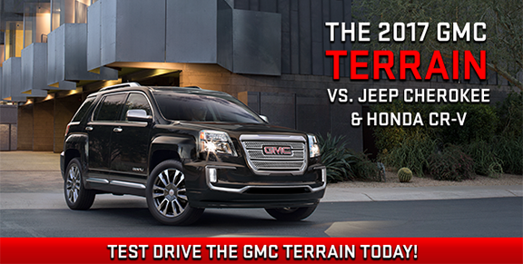 2017 GMC Terrain VS Jeep Cherokee & Honda CR-V Southern GMC Greenbrier, Chesapeake, Portsmouth, Suffolk, Newport News in Virginia and Elizabeth City in North Carolina