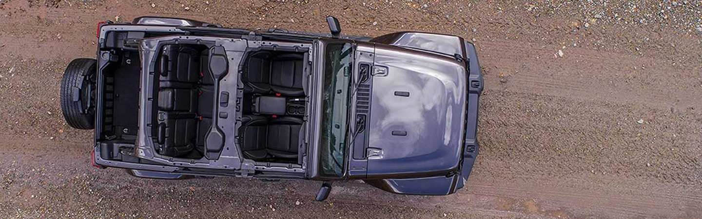 Aerial view of the 2019 Wrangler