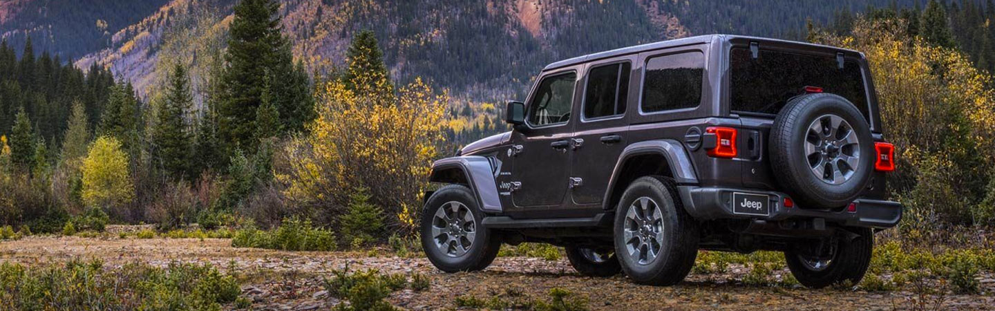Side profile of the 2019 Wrangler parked