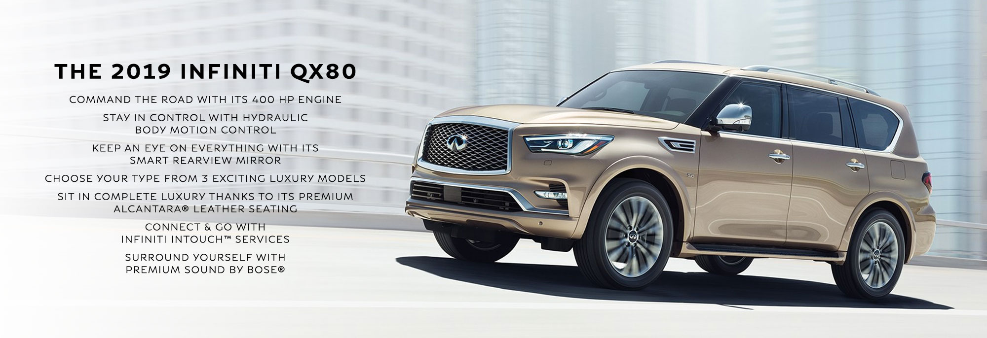 New 2019 INFINITI QX80 Offer