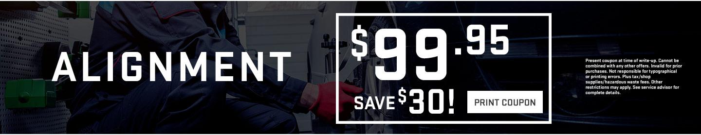 Alignment $99.95 print coupon