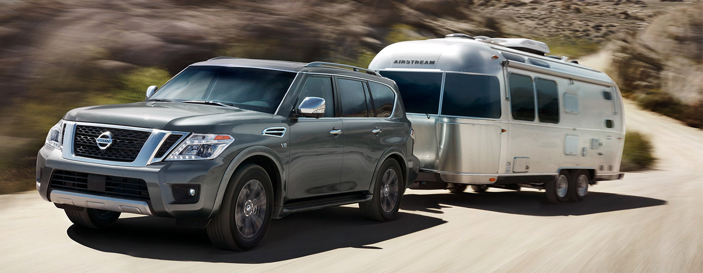2019 Nissan Armada in motion
