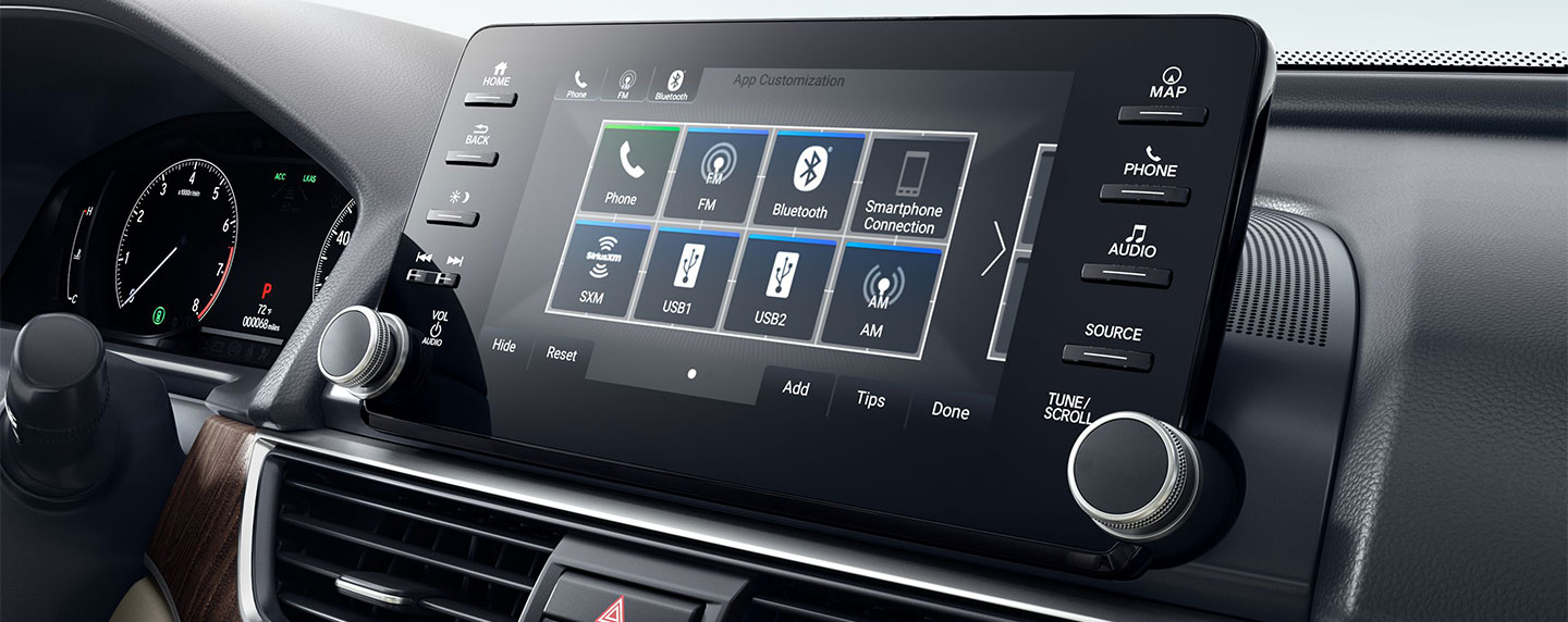Dashboard touch screen in the 2018 Honda Accord