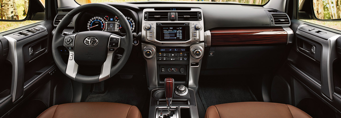 Interior of the 2019 Toyota 4Runner available at our Toyota dealer in Atlanta, GA.