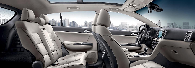 Interior of the 2020 Kia Sportage SUV at Spitzer Kia Mansfield