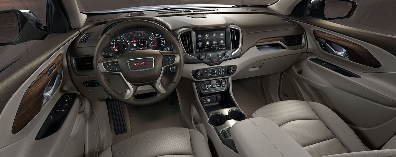 Safety features and interior of the 2019 GMC Terrain- available at our GMC dealership in Columbus, GA.