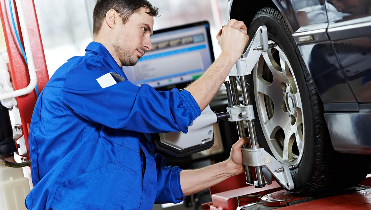 Wheel and Tire Alignment Service at your preferred Mitsubishi Dealership in Laurel MD