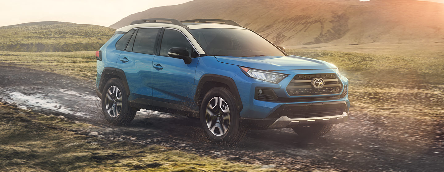 Exterior of the 2019 Toyota RAV4 at our Rock Hill car dealership