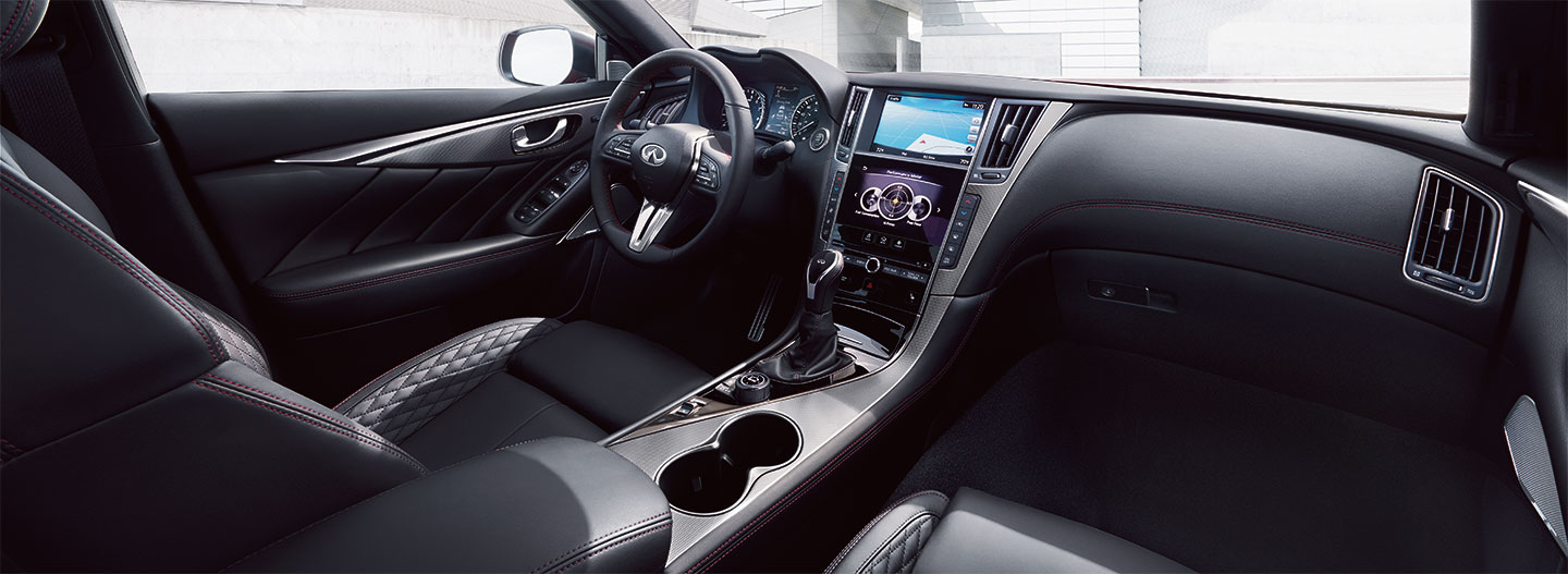 Driver and passenger controls of the 2018 INFINITI Q50