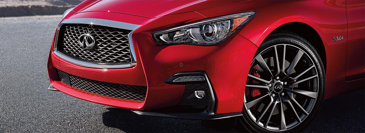 Front wheel of the 2018 INFINITI Q50