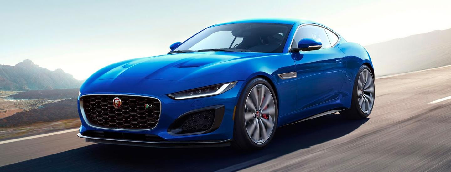 Blue 2021 Jaguar F-Type