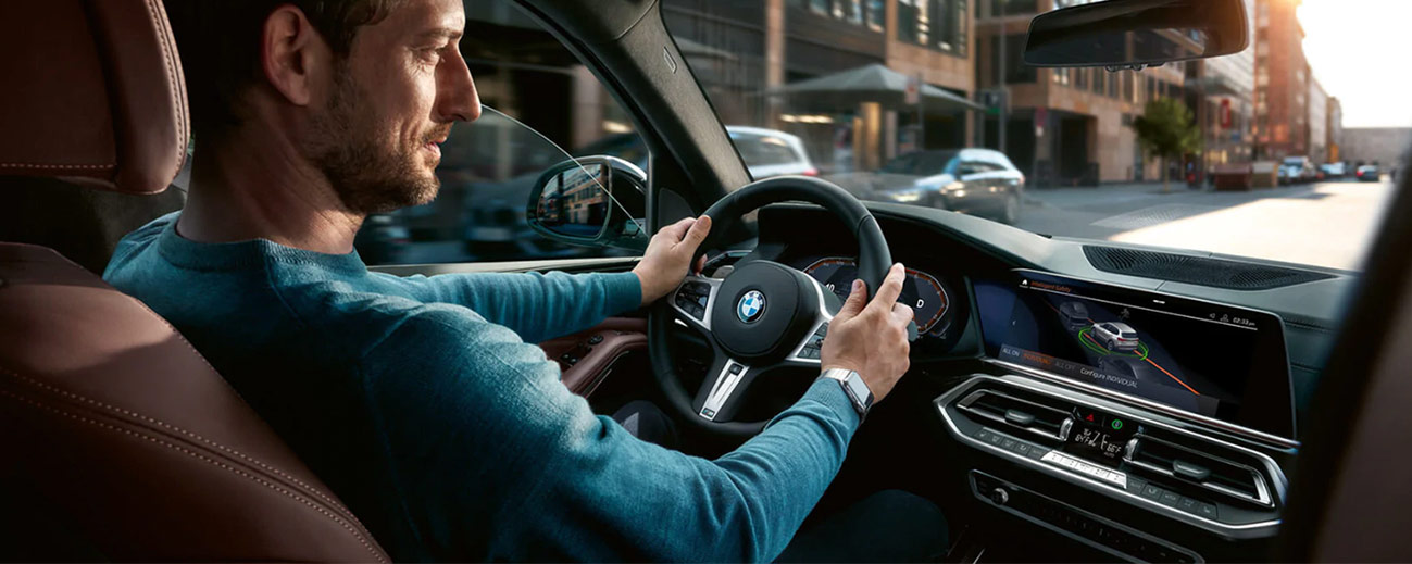 Safety features and interior of the 2019 BMW X5 - available at our BMW dealership