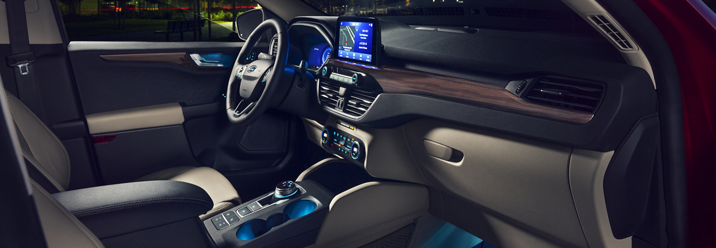 Interior image of the 2020 Ford Escape at Marlow Ford