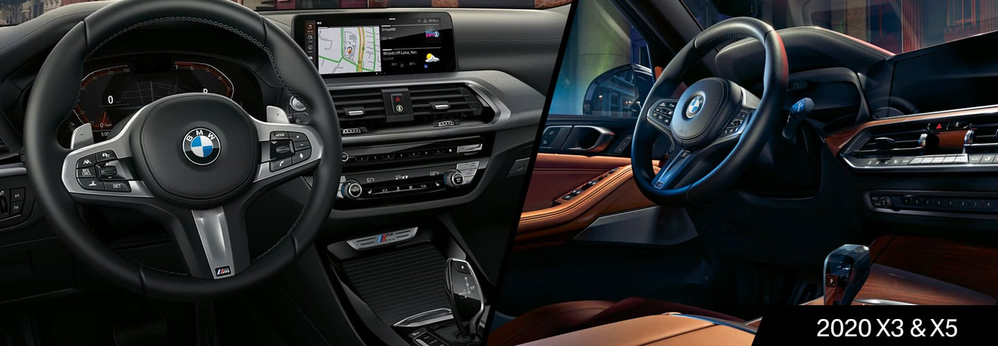 Interior of the 2020 BMW X3 and 2020 BMW X5