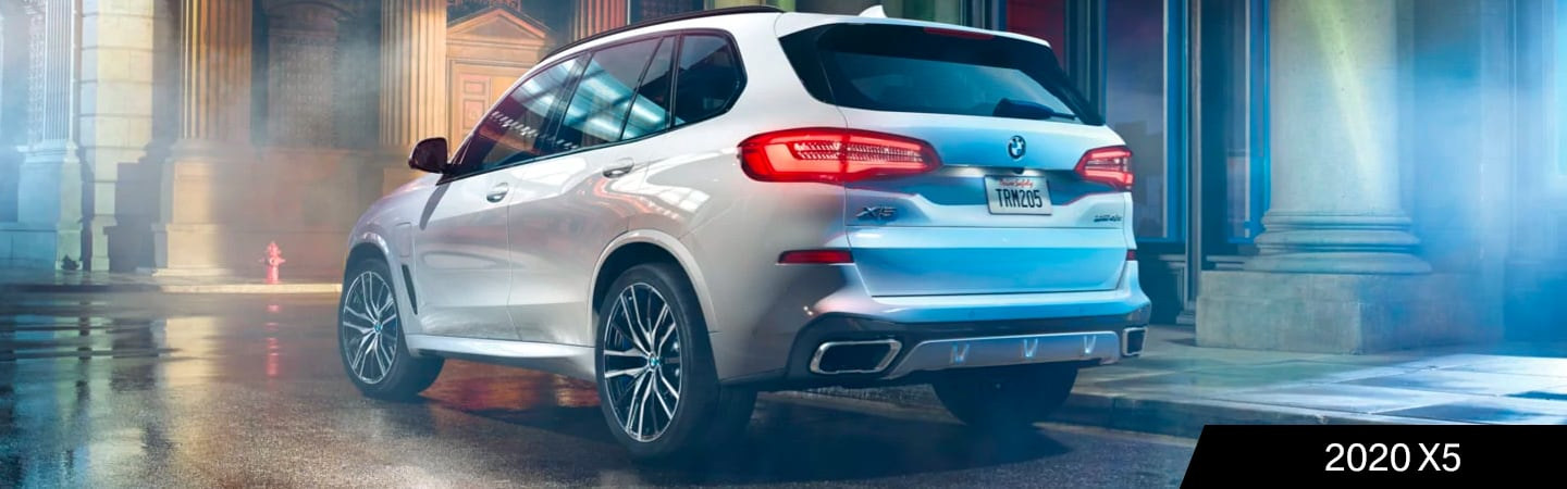 Rear view of the 2020 BMW X5