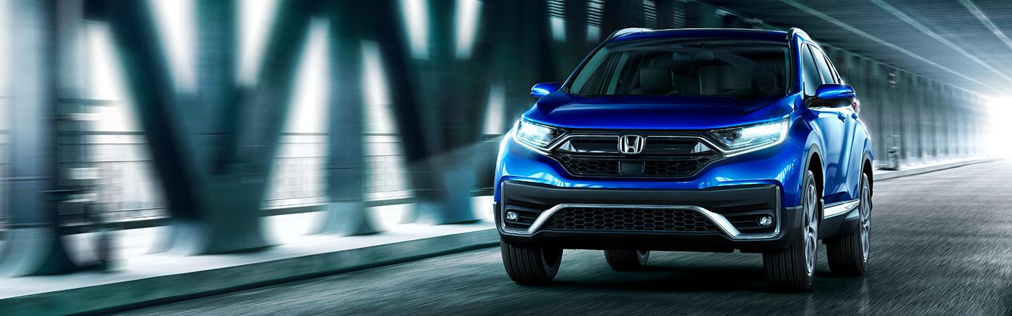 Front view of blue 2020 Honda CR-V